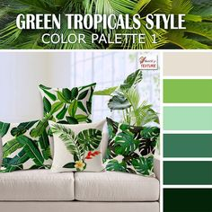 Green tropical style color palette 1