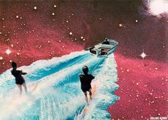 Astro-nautique / collage Herbot 2014