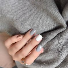 """Close up of yesterday's @songofstyle inspired nails... See previous post for more info On the nails @essiepolish Cocktail Bling, Blanc & Penny…"""