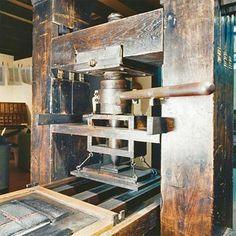 An original printing press cira 1400s.