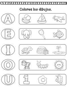 Vowel Worksheets, Letter Tracing Worksheets, 1st Grade Worksheets, Preschool Education, Free Preschool, Classroom Activities, Spanish Teaching Resources, Kids English, Lettering