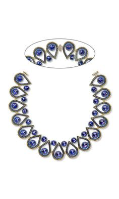 Jewelry Design - Collar-Style Necklace with Swarovski® Crystals and Seed Beads - Fire Mountain Gems and Beads