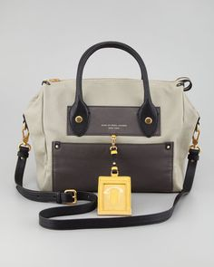 Marc by Marc Jacobs Preppy Pearl Colorblock Leather Satchel Bag