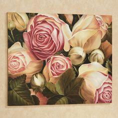 Rose Garden II Floral Canvas Wall Art