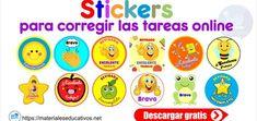 Stickers para corregir las tareas online preescolar y primaria Word Doc, Religion, Stickers, Comics, Words, School, Mary, Victoria, Memes
