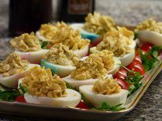 gefüllte Eier - mit z.B. Trüffelöl, oder anderen leckeren Zutaten