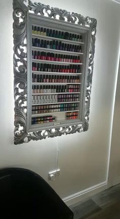 This breath taking display frame will add elegance & glamour to your whole salon with its luxury finish & sparkling Swarovski crystals Home Beauty Salon, Home Nail Salon, Nail Salon Design, Nail Salon Decor, Beauty Salon Decor, Salon Interior Design, Beauty Salon Design, Beauty Room, Beauty Bar