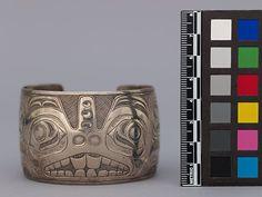 Charles Edenshaw, Haida. Bracelet c. 1880, restored/re-engraved by Bill Reid c. 1980.  Museum of Anthropology at UBC