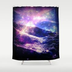 Cosmic+Radiance+Shower+Curtain+by+CLE.ArT.+-+$68.00