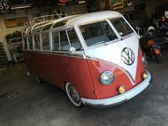 1960 VW Bus 23 Window Right Hand Drive Model #244, Microbus De Luxe, RHD Color: L53 Sealing Wax Red, Roof L 472 Beige Grey, Upholstery: Blue Grey Full Rotisserie Restoration completed in Dec...
