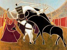 Corrida II, 1951. Cubismo, Surrealismo - Óscar Domínguez