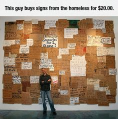 One Big Homeless Sign