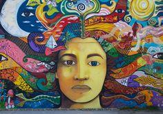 In Bariloche, Argentina. Photo by McKay Savage - colourful street art Murals Street Art, Street Art Utopia, Street Art Graffiti, Best Street Art, Amazing Street Art, Art Public, Color Secundario, Culture Art, Urbane Kunst