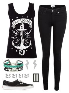 """""""Paramore"""" by alex-bows ❤ liked on Polyvore featuring Paige Denim, Minor Obsessions, Vans, Maison Margiela and paramore"""