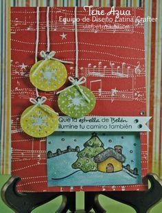 Latina Crafter - Sellos en Español: Casita en Navidad: Inspiración con el Equipo de Diseño