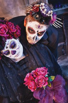 I saw some friends of mine do some awesome Dia De Los Muertos looks with just clothes and accessories that looked traditional Mexican and some face paint themed after sugar scull art. Really fun for teen couples to do.