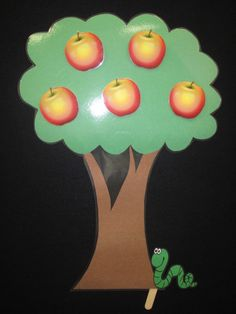 FLANNEL RHYME: Five Little Apples