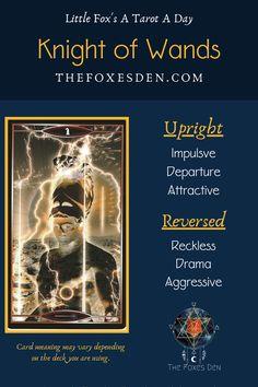 Knight Of Wands, Tarot Card Meanings, Tarot Readers, Major Arcana, Tarot Decks, Tarot Cards, Beautiful Hands, Witchcraft