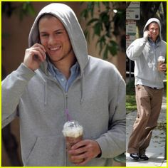 I love the normal guys, just beautiful even without the makeup and lighting crew.  (Wentworth Miller)