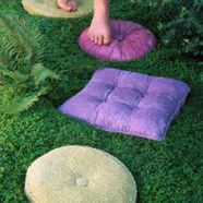 Whimsical Faux Pillow Stepping Stones
