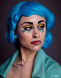 Makeup by Marnie Cossarini  Looks like comic book is in for holloween this year!