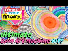 Make your own SPIN ART MACHINE with a small fan and recycled cardboard. Go nuts with fun, vibrant colors! Glue these crazy circles onto cardstock and create . Circle Art, Middle School Art, Diy Painting, Encaustic Painting, Process Art, Painted Paper, Art Challenge, Recycled Art, Mixed Media Canvas