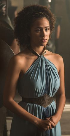 "Missandei is a major character in the fifth and sixth seasons. She initially appeared as a recurring character in the third and fourth seasons. She is played by starring cast member Nathalie Emmanuel and debuts in ""Valar Dohaeris"". A slave who served as an interpreter to the masters of Astapor, Missandei was freed when Daenerys Targaryen took the Unsullied army and used it to overthrow the slavers. Missandei now serves Daenerys as her trusted advisor and Handmaiden. After Daenerys flees..."