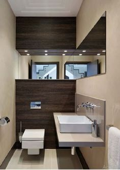 Vero basin and wall-mounted WC from Duravit and Axor Citterio taps from Hansgrohe. It is the eighth WC in the property as a whole