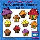 Fall Cupcakes Clip Art - Freebie The Fall Cupcakes in this clip art collection include cupcakes in 5 different colors plus black line images (11 to...