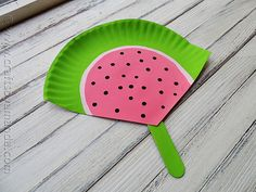 I have a quick summer craft project for you and the kids today. Little hand held fans that look like watermelons, made from paper plates and craft sticks! This is a great project for a hot summer day. If you prefer to keep the paint bottles on the shelf, use construction paper instead. Printable instructions below! If you're looking for  Read More »