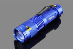 $39.99 - $16.99 NEW Mini 2000 Lumens Bright CREE Q5 LED Adjustable Zoom Focus Tactical Flashlight These custom designed flashlights are MUST HAVE! Designed with premium high quality material. FREE SHI