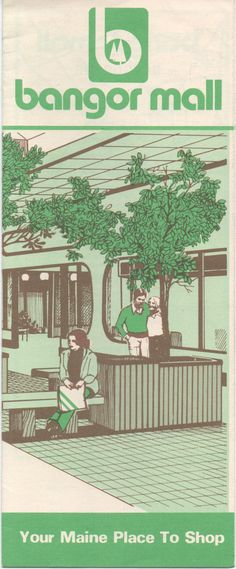 c1970s Bangor Mall Brochure, illustrated, good shape. Bangor, Maine by VintageNEJunk on Etsy