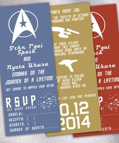 SAMPLE Star Trek Original Series Wedding Invitation by AprilSanson, $2.65