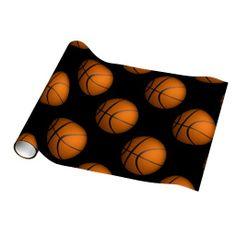 Just a Ball Basketball Sport Gift Wrap $20.95