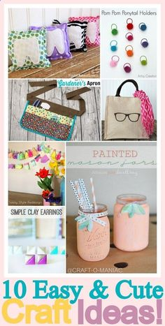 10 Easy and Cute Craft Ideas! #crafts #diy