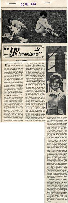 Jacqueline Kennedy y su romance con Aristóteles Onassis. Por Sofía Imber. Publicado el 20 de octubre de 1968