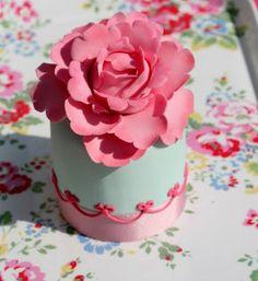 Pink Flower Mini Cake