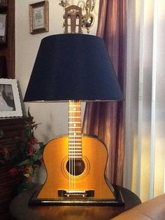 CLASSIC GUITAR BASED BEDROOM LAMP OR SIDE TABLE LIGHT - GITAR TEMALI GECE LAMBASI