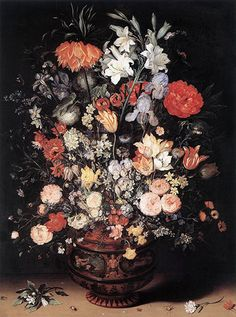 Flowers In A Vase Flemish Jan Brueghel the Elder art for sale at Toperfect gallery. Buy the Flowers In A Vase Flemish Jan Brueghel the Elder oil painting in Factory Price. Art Floral, Vintage Floral, Flower Vases, Flower Art, Flowers In Vase Painting, Flower Paintings, Paintings Famous, Art Paintings, Oil Painting Reproductions