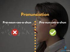 Pronounce the word pronunciation like pro-nun-cee-a-shun ; English Learning Spoken, Learn English Grammar, English Writing Skills, Learn English Words, English Idioms, English Phrases, English Language Learning, English Lessons, Teaching English