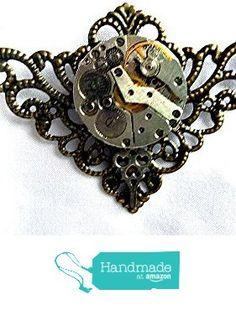 Steampunk Necklace Brass Filigree from Steampunk and Earthstones http://www.amazon.com/dp/B019HDG4CS/ref=hnd_sw_r_pi_dp_P59Jwb1JY1P9Y #handmadeatamazon