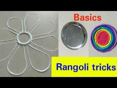 Diwali special Easy Rangoli tricks | rangoli shortcuts for beginners | easy and simple shapes - YouTube