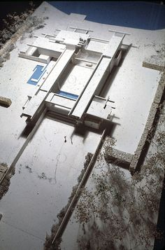 MATERIAL and COLOR = spooky  Pistell Residence - Model 16 - Paul Rudolph