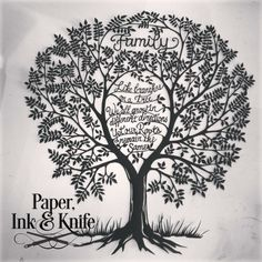 Family - like branches on a tree - papercut by Rebecka Hathaway