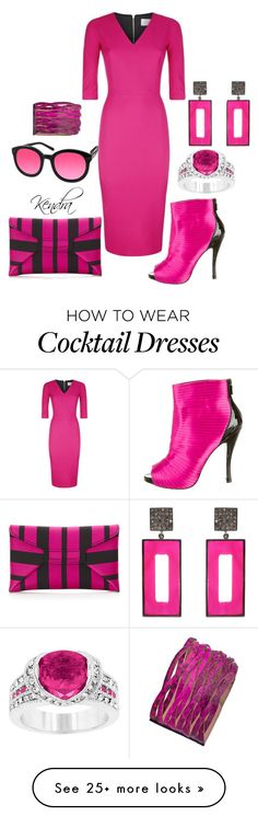 """I Wear Pink For Admiration"" by k1974johnson1117 on Polyvore featuring Victoria Beckham, Roger Vivier, VBH, ADORNIA, Kate Bissett, Uno6eight and AQS by Aquaswiss"