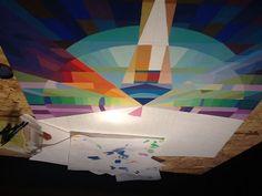 Malen mit Wasserfarben Entfalten statt liften! Tagsüber arbeite ich in den Wagenhallen, nachts und morgens mache ich Malerei mit Wasserfarben, Digitale Kunst und Fotografie