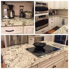 Kitchen Tops, Kitchen Cabinets, Ceramic Tile Backsplash, Granite Tops, Marble, Facebook, Home Decor, Decoration Home, Room Decor