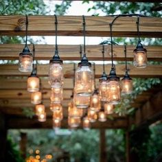 I really want to do something like this to cozy up my pergola! Another project to add to the list of all my other unfinished projects! Will it ever be complete?  #homedecor#outdoorlighting#backyardliving