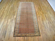 "Persian: Floral 10' 7"" x 4' 3"" Antique Saraband at Persian Gallery New York - Antique Decorative Carpets & Period Tapestries"