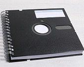 Retro Floppy Disk Notebook 5.25-inch black